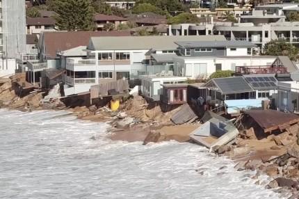 Colloroy  Beach Storm Damage June 2016