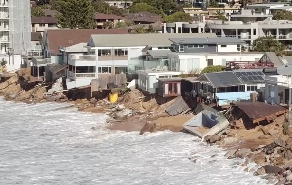Colloroy  Beach Storm Damage June 2016